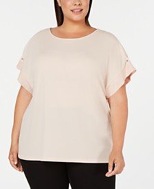 Calvin Klein Plus Size Short-Sleeve Top