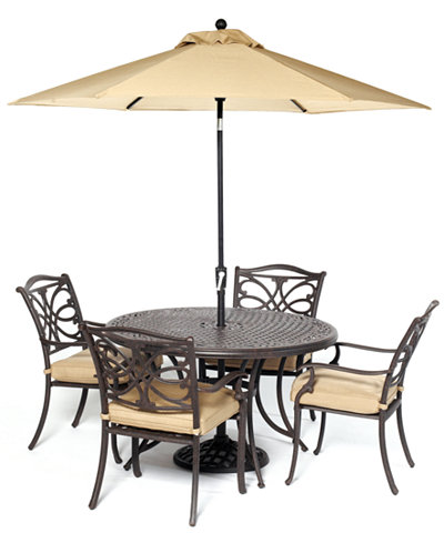 CLOSEOUT! Kingsley Outdoor Cast Aluminum 5-Pc. Dining Set (48