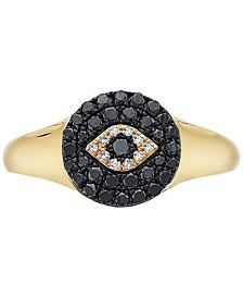 EFFY® Diamond Evil-Eye Ring (1/3 ct. t.w.) in 14k Gold