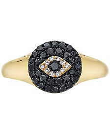 EFFY® Diamond Evil-Eye Ring (1/3 ct. t.w.) in 14k Gold