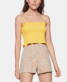 BCBGeneration Smocked Cropped Top