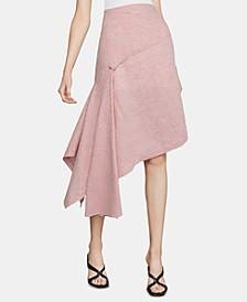 Pinstriped A-Line Skirt