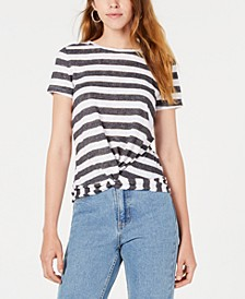Striped Twist-Hem Top, Created for Macy's