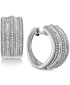EFFY® Diamond Hoop Earrings (3/4 ct. t.w.) in 14k White Gold