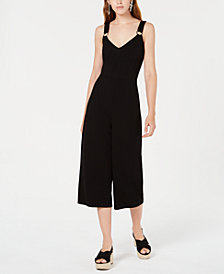 Bar III Cropped O-Ring Jumpsuit, Created for Macy's