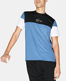 Lacoste Men's Ultra Dry Moisture-Wicking Colorblocked Logo Graphic Technical T-Shirt