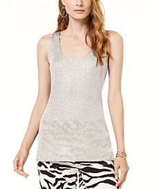 INC Petite Sequined Sweater Tank Top, Created for Macy's