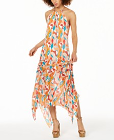 Rachel Zoe Bellarosa Printed Halter Maxi Dress