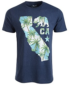 Univibe Men's California Palm Graphic T-Shirt
