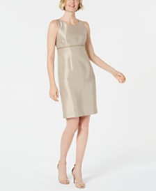 Kasper Beaded Sheath Dress