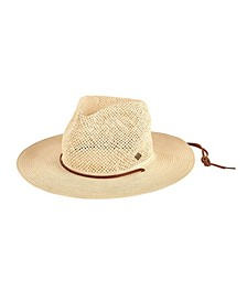 San Diego Hat Men's Open Weave Crown with Chin Cord