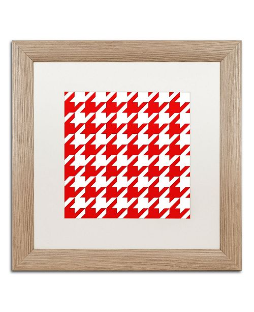 """Trademark Global Color Bakery 'Xmas Houndstooth 2' Matted Framed Art - 16"""" x 16"""""""