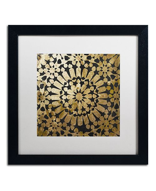 """Trademark Global Color Bakery 'Moroccan Gold III' Matted Framed Art - 16"""" x 16"""""""