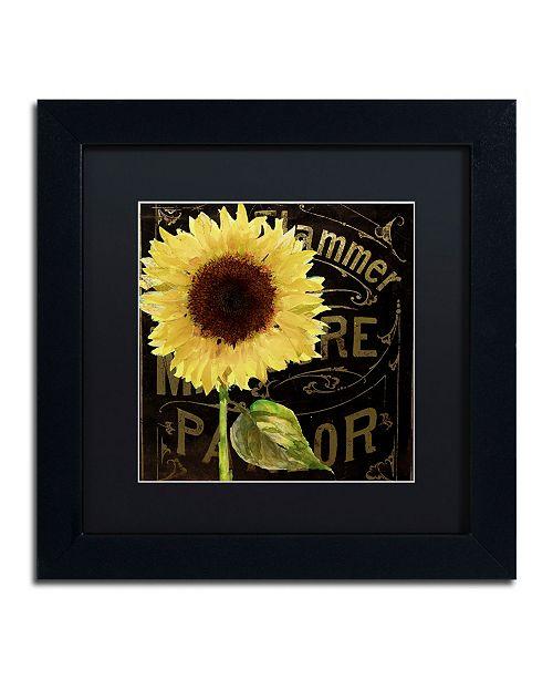 """Trademark Global Color Bakery 'Sunflower Salon I' Matted Framed Art - 11"""" x 11"""""""