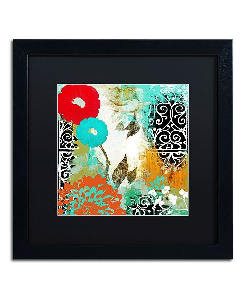 "Trademark Global Color Bakery 'Bali I' Matted Framed Art - 16"" x 16"""