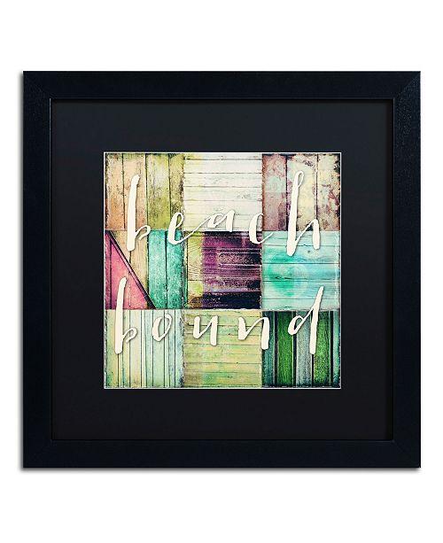 "Trademark Global Color Bakery 'Beach Bound' Matted Framed Art - 16"" x 16"""