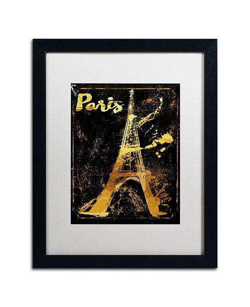 "Trademark Global Color Bakery 'Gold Eiffel' Matted Framed Art - 16"" x 20"""
