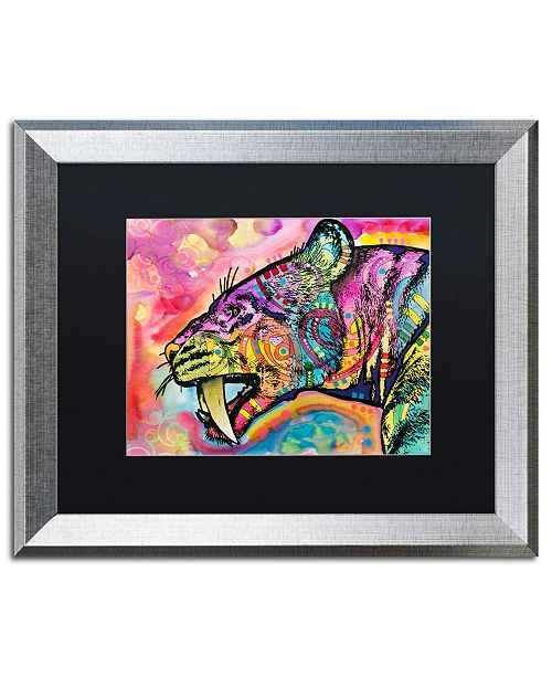 "Trademark Global Dean Russo 'Saber Tooth' Matted Framed Art - 16"" x 20"""