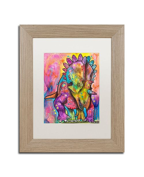 """Trademark Global Dean Russo 'Triceratops' Matted Framed Art - 11"""" x 14"""""""