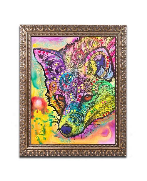 """Trademark Global Dean Russo 'Fox' Ornate Framed Art - 16"""" x 20"""""""