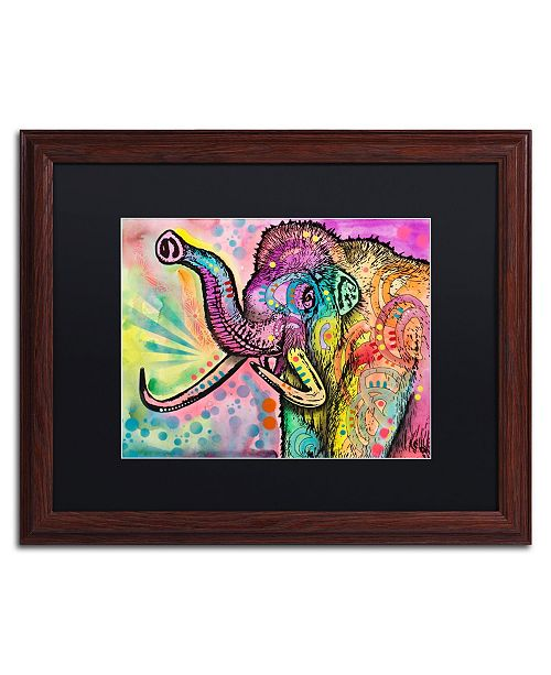 "Trademark Global Dean Russo 'Woolly Mammoth' Matted Framed Art - 16"" x 20"""