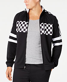 ID Ideology Men's Checkerboard Track Jacket, Created for Macy's