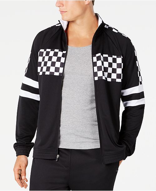 Ideology Men's Checkerboard Track Jacket, Created for Macy's
