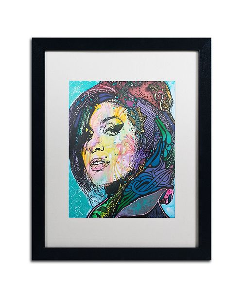 "Trademark Global Dean Russo 'Amy Winehouse' Matted Framed Art - 16"" x 20"""