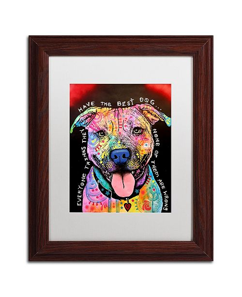"Trademark Global Dean Russo 'Best Dog' Matted Framed Art - 11"" x 14"""