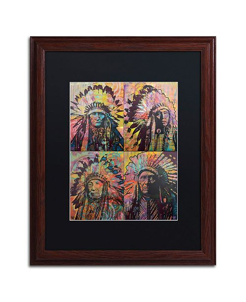 "Trademark Global Dean Russo 'Chiefs Quadrant' Matted Framed Art - 16"" x 20"""