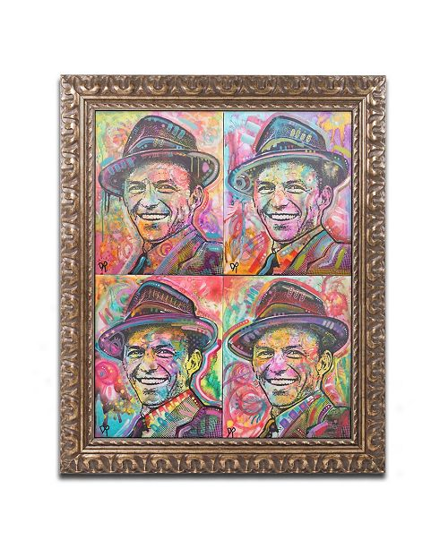 "Trademark Global Dean Russo 'Sinatra Quadrant' Ornate Framed Art - 16"" x 20"""