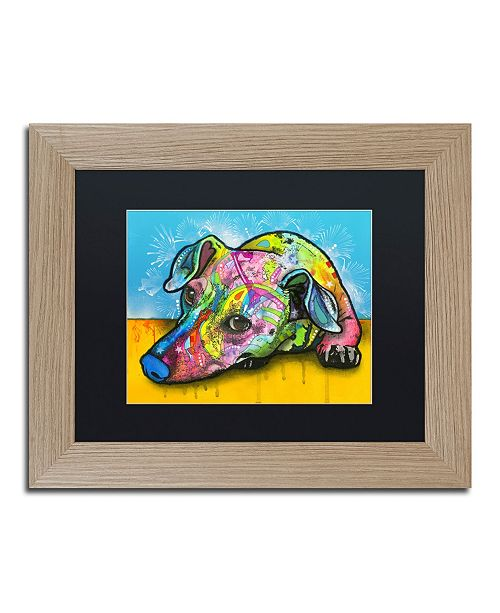 "Trademark Global Dean Russo 'I'm Waiting' Matted Framed Art - 11"" x 14"""