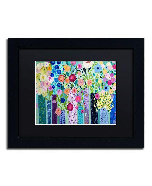 """Trademark Global Carrie Schmitt 'Tadasana' Matted Framed Art - 11"""" x 14"""""""