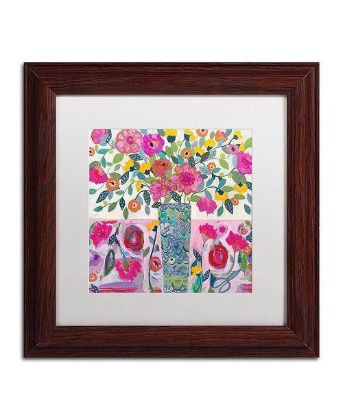 "Trademark Global Carrie Schmitt 'Amazing Vase' Matted Framed Art - 11"" x 11"""