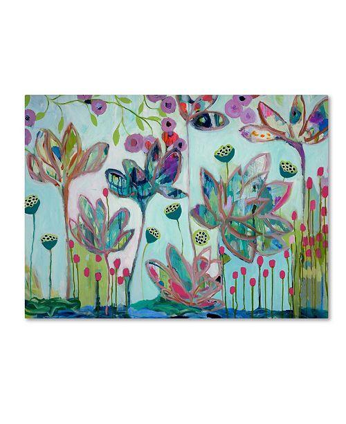 """Trademark Global Carrie Schmitt 'Flying Lotus' Canvas Art - 14"""" x 19"""""""
