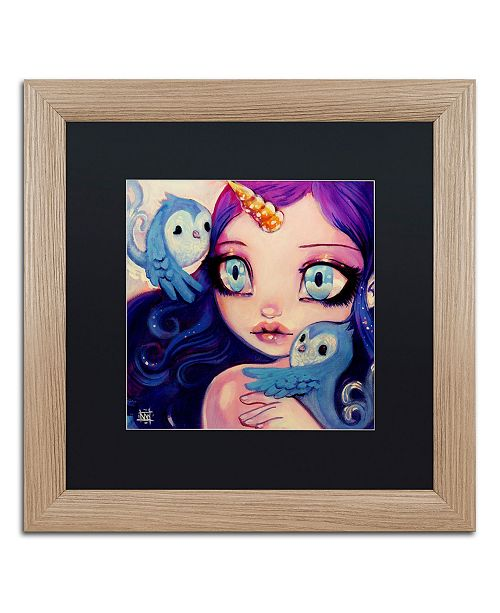 "Trademark Global Natasha Wescoat 'A Little Birdy Told Me' Matted Framed Art - 16"" x 16"""