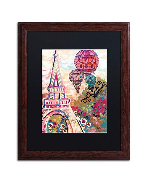 "Trademark Global Natasha Wescoat 'Ballons Sur Paris' Matted Framed Art - 16"" x 20"""