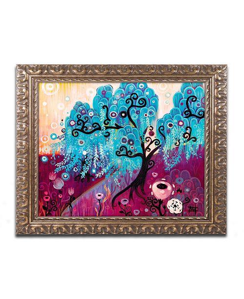 "Trademark Global Natasha Wescoat 'Blue Willow' Ornate Framed Art - 11"" x 14"""