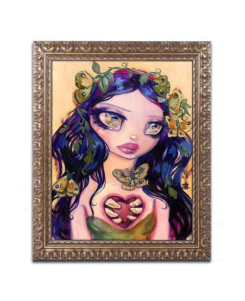 "Trademark Global Natasha Wescoat 'Eat Your Heart Out' Ornate Framed Art - 11"" x 14"""
