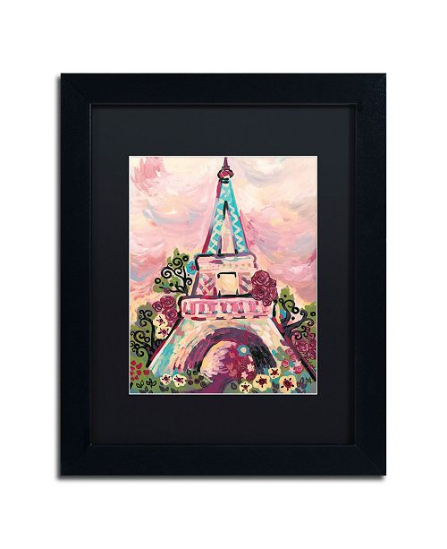 "Trademark Global Natasha Wescoat 'Lumiere De La Ville' Matted Framed Art - 11"" x 14"""