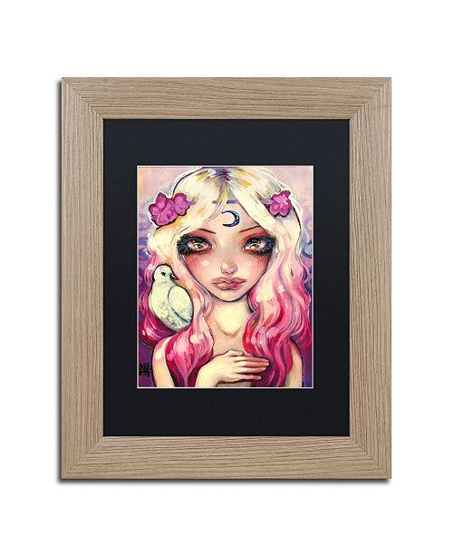 "Trademark Global Natasha Wescoat 'Moon Child' Matted Framed Art - 11"" x 14"""