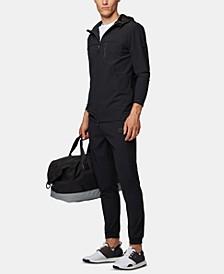 BOSS Men's Swoven Hooded Zip-Through Sweatshirt
