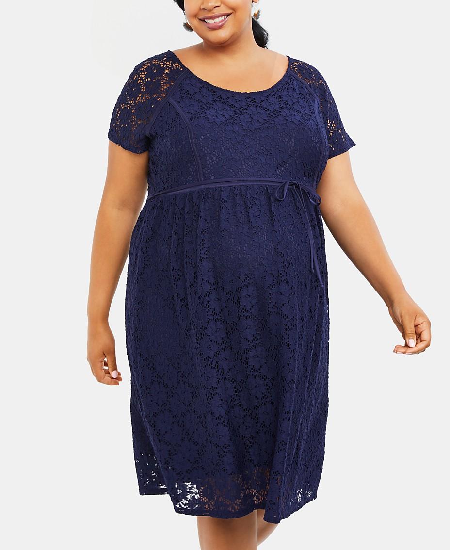 e39c8b744bd7a Motherhood Maternity Plus Size Lace A-Line Dress