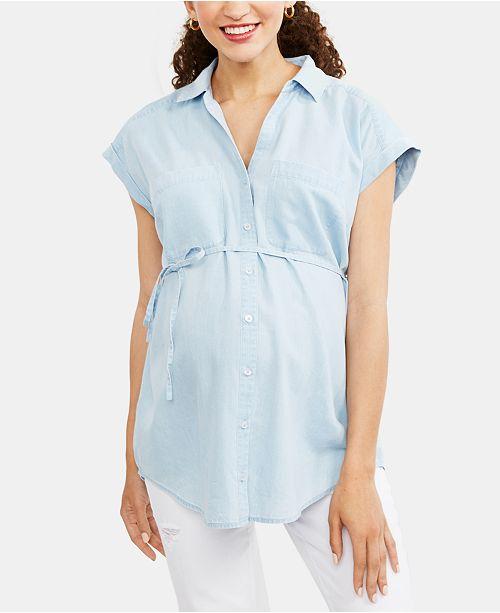 Motherhood Maternity Button-Front Blouse
