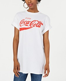 Mighty Fine Juniors' Cotton Coca-Cola Graphic T-Shirt
