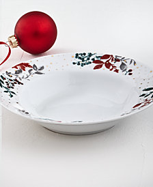 CLOSEOUT! Martha Stewart Collection Royal Blush Dinner Bowl, Created for Macy's