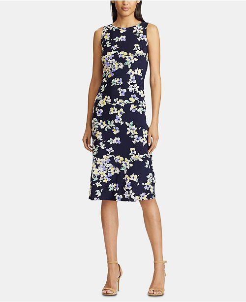 American Living Floral-Print Sleeveless Midi Dress