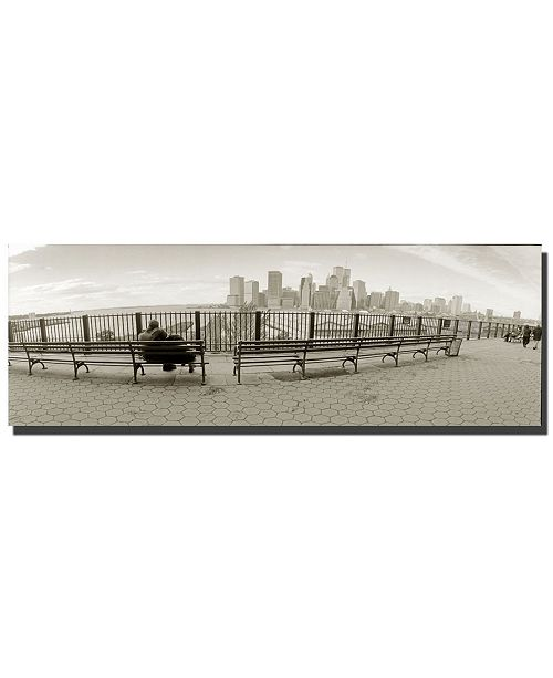 "Trademark Global New York Bench by Preston Canvas Art - 24"" x 8"""