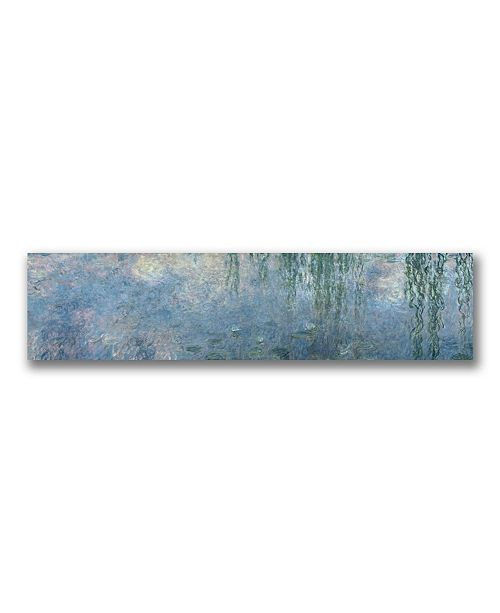 "Trademark Global Claude Monet 'Waterlillies Morning' Canvas Art - 47"" x 14"""