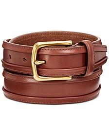 Men's Bound-Edge Leather Belt
